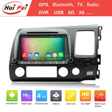Huifei Android4.4.4 Quad Core touch screen car headrest dvd for Honda CIVIC 2006-2011 with mirror link,GPS,Radio function