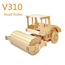 Robotime wooden remote control vehicles toy - Road Roller