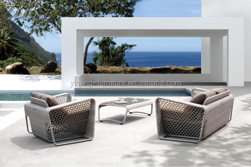 mobiliario jardim rattan:lazer Rattan Branco Mobiliário de Jardim Ao Ar Livre-Sofás de jardim