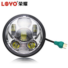 5.75 inch 45w round motorcycle led headlight for Harley with high low beam
