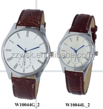 Fashion Design couple lover watch promotion gift leather Men&women cheap wrist watch