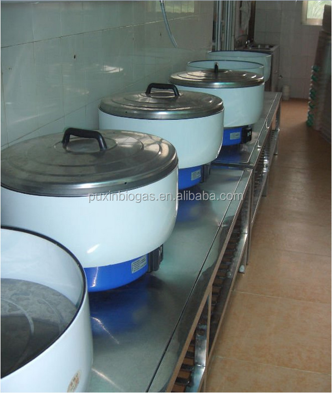 stainless steel large size biogas rice cooker 6-20L