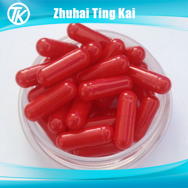 Red color size 00 empty hard gelatin capsules