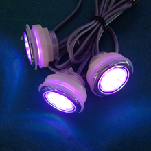 Low voltage 12V RGB mini LED underwater lights without controller for bathtub