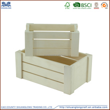 factory supply accept custom order vintage cheap used wooden vegetable crate, wooden wine crate