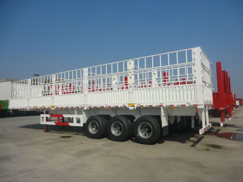 3 axles cow poultry transport truck trailer