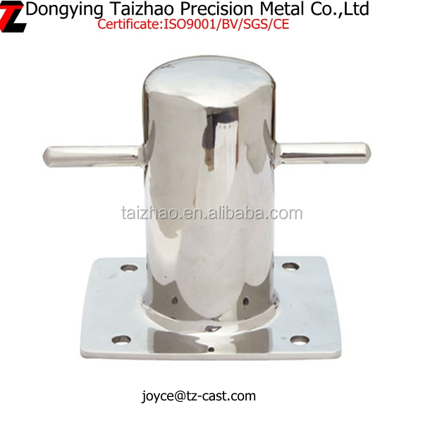 Top quality 316 stainless steel marine crossing bollard single for sale