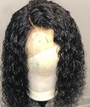 Water wave Curly Wig Brazilian 10A Lace Front Human Hair Wigs With Baby full lace Wig Remy Hair Pre Plucked fast shipping