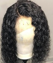 Water wave Curly Wig Brazilian Lace Front Human Hair Wigs With Baby full lace Wig Remy Hair Pre Plucked Bleached Knots