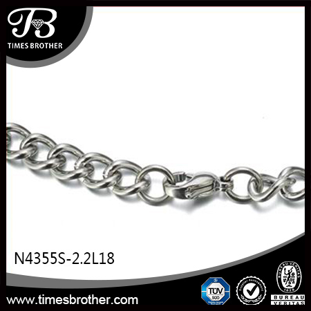 Factory Wholesales Own Design Stainless Steel Leather Curb Chain