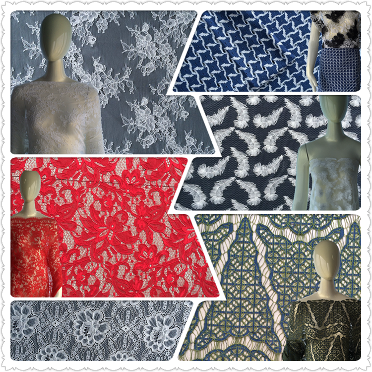 nylon materials latest nylon rayon two-tone african lace fabric in China