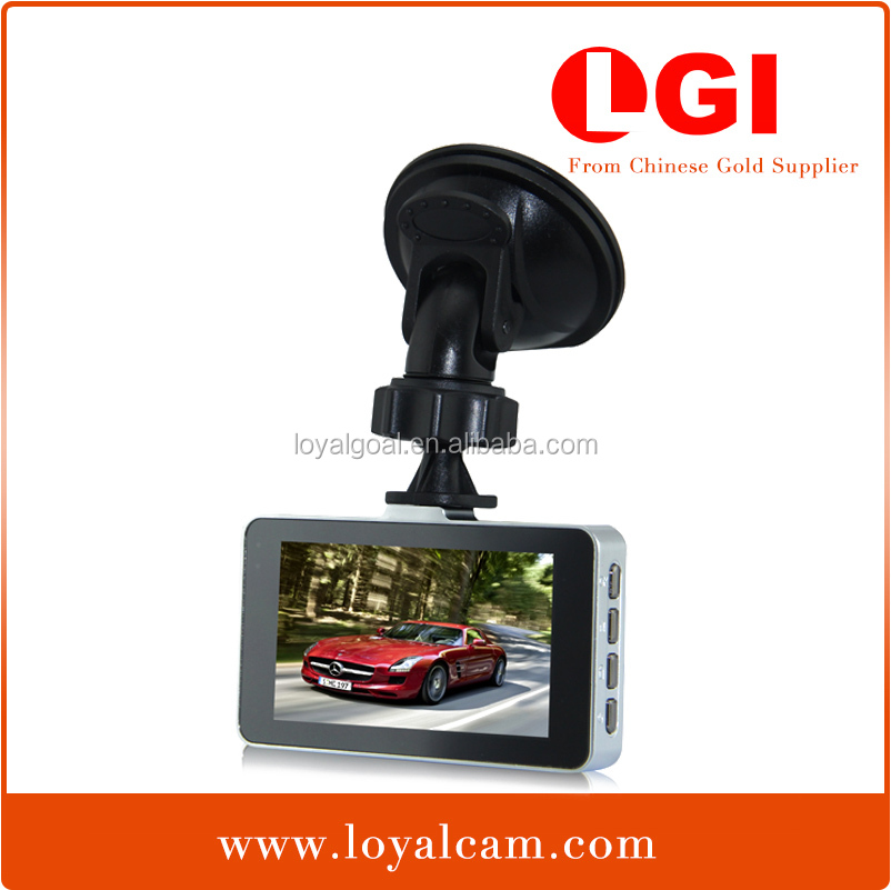 High quality G2W 3.0 inch LCD 170 degree wide angle lens H.264 front digital 1080P hd car roof camera