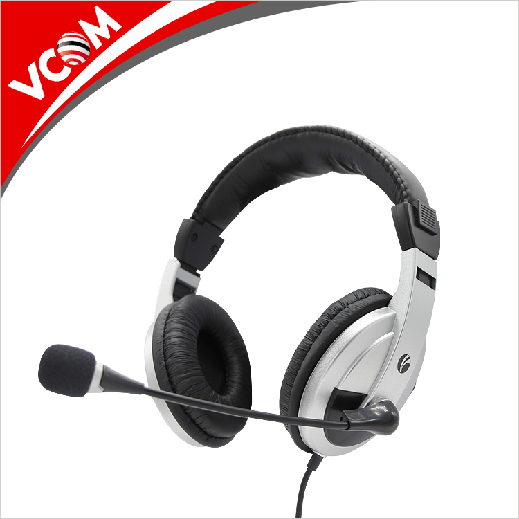 China Guangdong free sample wholesale cheap price stylish wired over ear pc headphone with mic