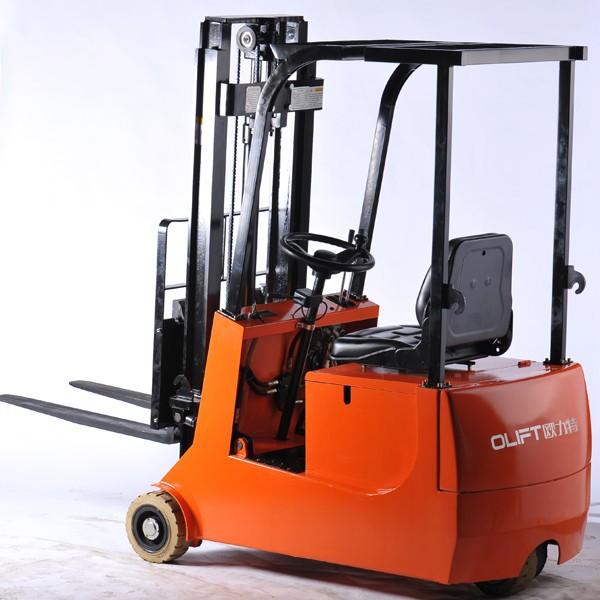 Olift small size 3-wheels electric forklift truck