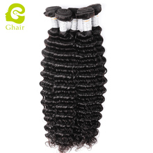 Large stock virgin remy hair Peruvian hair deep wave natural black hair weaving