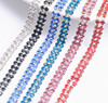 factory crystal rhinestone sew on double rows trimming close cupchain for jewelry strass finding accessories xinmili Manufacture