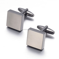 Fashion jewelry square Brass cuff buttons Wedding Groom Mens Crystal Cufflinks