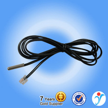 12V Temperature Sensor Stainless Steel Heat Probe Dallas Infrared DS18B20 Black Flat Telephone Line Temperature Sensor