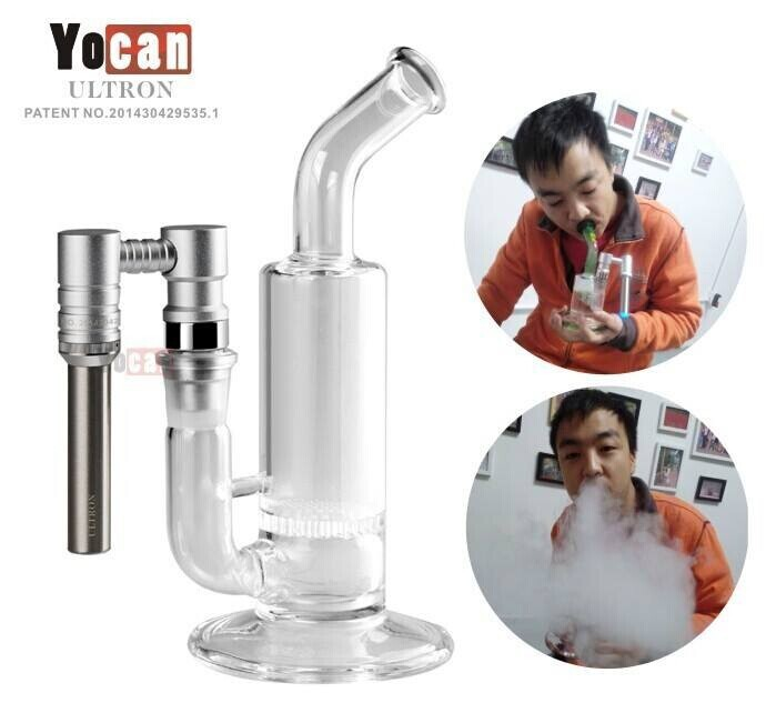 Auto Sensor Yocan ULTRON Portable Domeless Enail Dab Rig Bubbler Glass Pipe