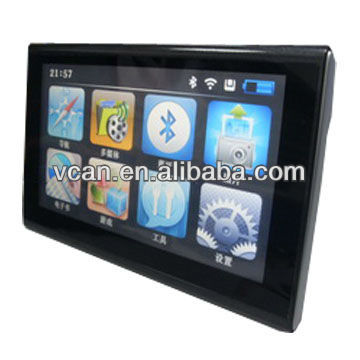 "Newest 7"" lcd touch screen car slim gps multimedia navigator with /Picture/Game bt auto gps navigation removable for sale"