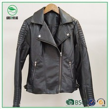 Factory Price Custom Women Motorcycle PU Leather Jacket