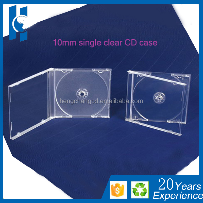 10mm jewel cd case with clear plastic package