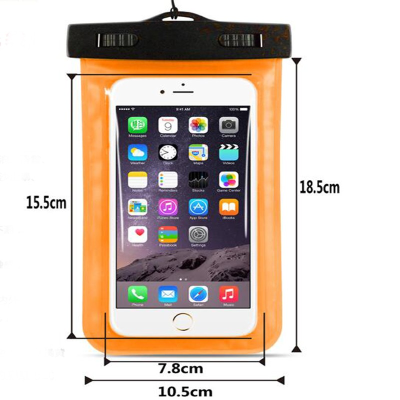 Hydro dipping clear pvc cell phone waterproof bag