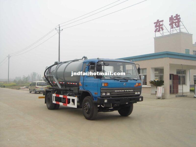 Dongfeng flat head single bridge 145 suction sewage truck (DTA5110GXW special transport sewage suction trucks )
