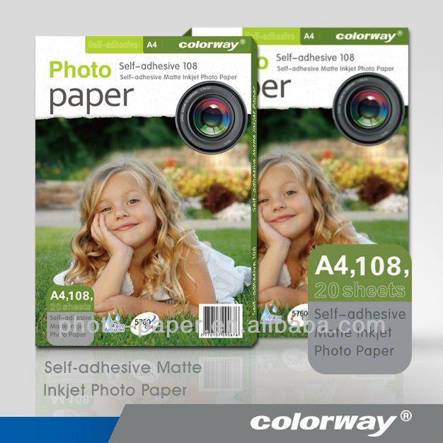 120gsm Waterproof Adhesive Matte Photo Paper A4