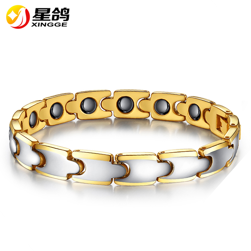 New Design Tungsten steel Bracelet Health Energy Magnetic Bracelet & Bangle Fashion Jewelry Lady Bracelets Gift for Girls Men