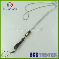 custom promotional gifts metal chain lanyard with mobile phone case