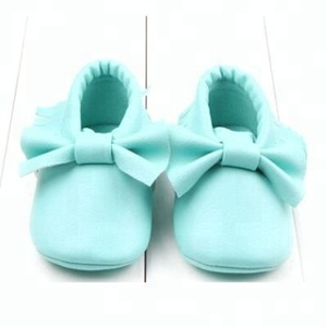 2018 Top quality baby PU leather shoes wholesale baby shoes with bow from Kapu