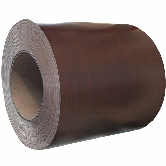 Wood color coated aluminum steel coil ppgi manufacture for doors