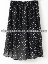 2012 fashion waist elasticity five-pointed star front short back long chiffon en dress