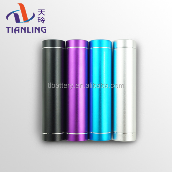 New design portable mini tube cylinder shape mobile power bank 3000mah