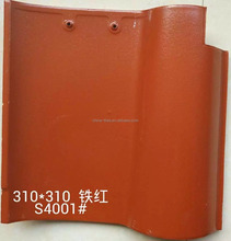 Heat Proof Clay Materials 310x310mm Spanish Roof Tiles For Garden