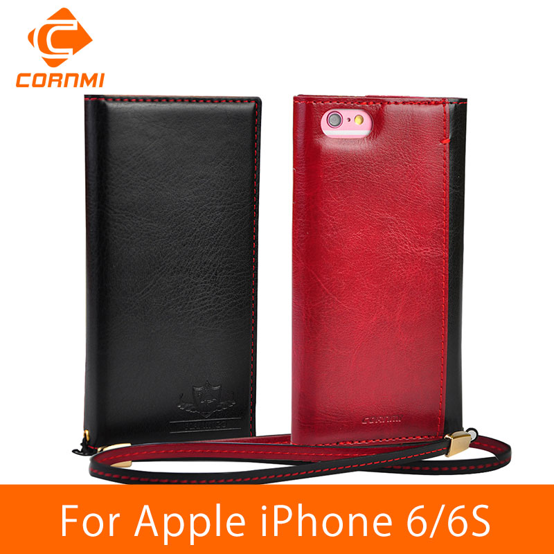 CORNMI For iPhone 6 6S Case Leather Wallet Magnetic Flip Cover Case