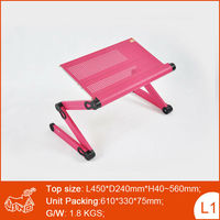 Portable Ergonomic Folding Aluminum Desk Used for Car