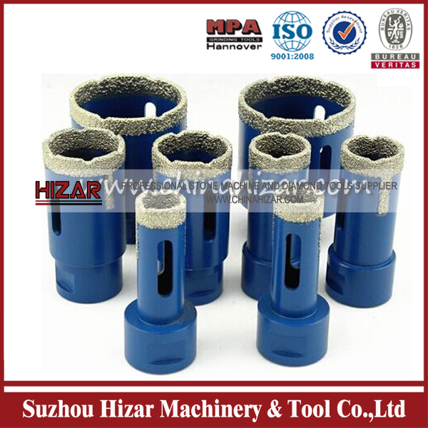 vaccum brazed all purpose diamond core drill tools for stones, ceramic,tile, etc