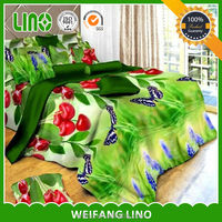 bright color comforter sets /3d picture bed cover set/double cot bed designs