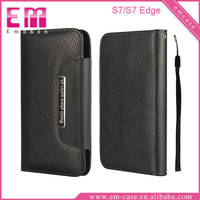 Litch Pattern Leather Card Slot Case For Samsung S7/S7 Edge Mobile Phone Wallet Case
