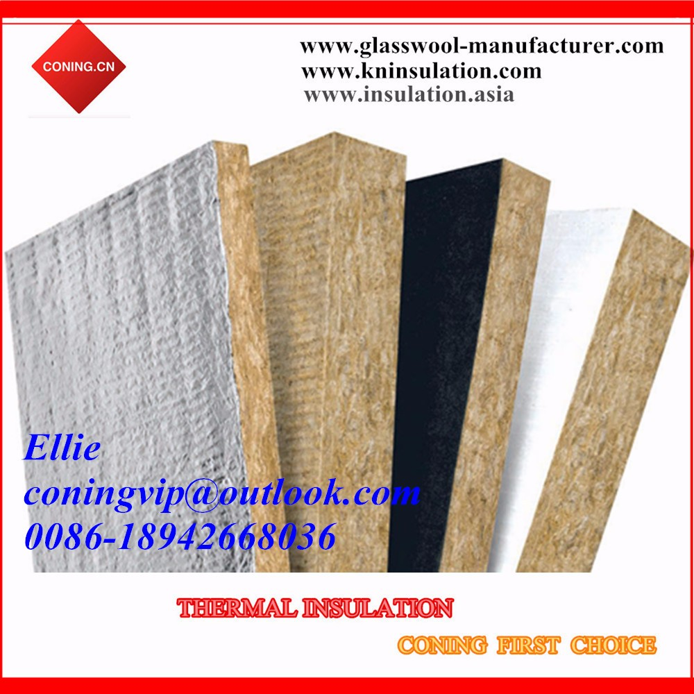 Insulation rock wool board sheet slab faced with aluminium for Mineral wool wall insulation