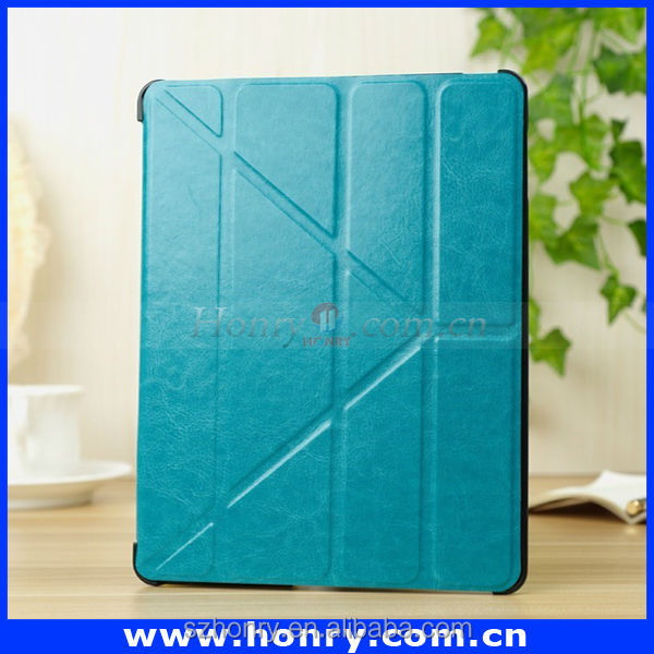 Colorful leather case real leather case for ipad air 5 with OEM service