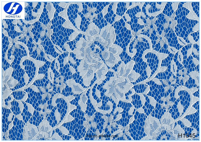 2016 Hongtai 3D Flower Lace Embroidered Fabric, Multi-Color Guipure Lace Fabric