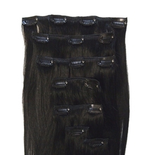 Amazon hot selling human hair extensions top quality clips in hair weft cheap price brazilian hair products