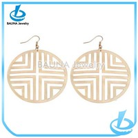 High quality popular simple gold rolled plain gold earrings