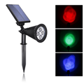 RGB Solar spotlight/Auto changing color led lamps spotlight for outdoor decorative lighting