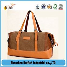 Top quality full grain leather duffle bags,travel storage bag,pu leather travel bag