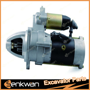 Excavator EX200-3 Start Motor 6BD1 for Hitachi with 3 Mounting holes