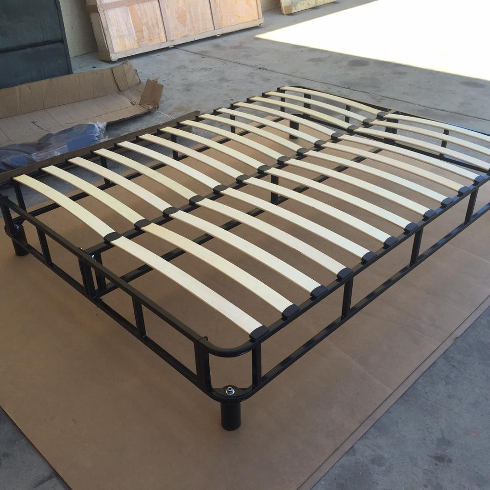 Modern K/D Metal Bed Frame With Center Support